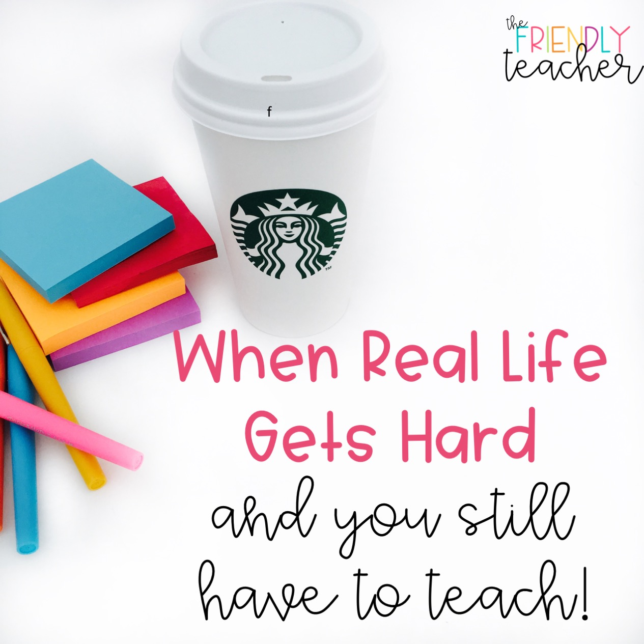 Sometimes life can be hard and you still have to teach. Here are my top tips for that!