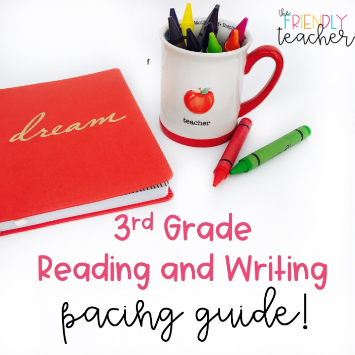 A FREE pacing guide for third grade ELA!