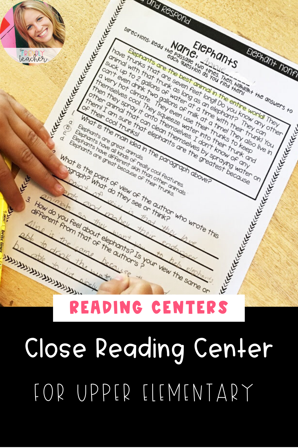 Close Reading Centers for Upper Elementary