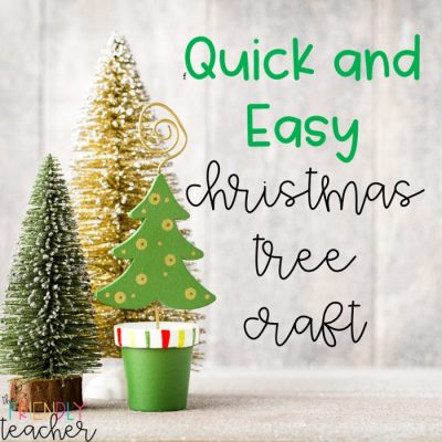 A Quick and Easy Christmas Tree!